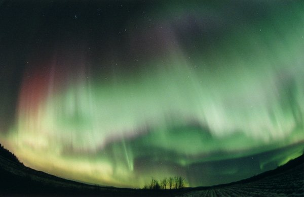 Aurora with discrete arcs